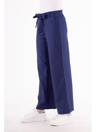 Stamina  Bayan Beli Lastikli Geniş Paça Pantolon-5PN01 Lacivert